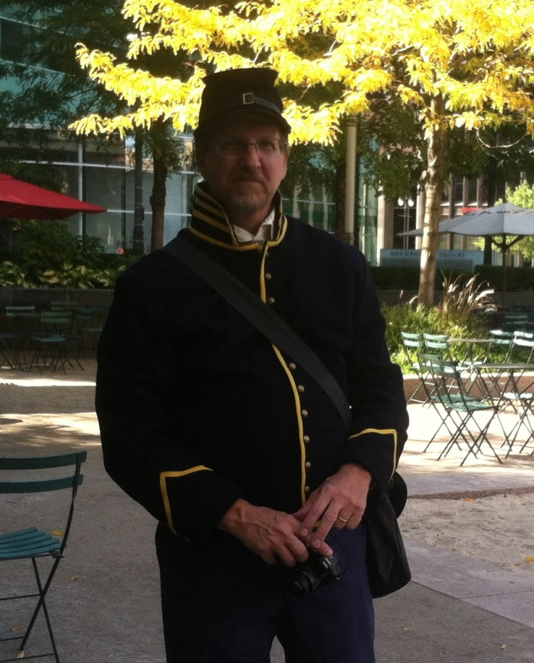Civil War author & historian David Ingall in Michigan Cavalry Brigade uniform.