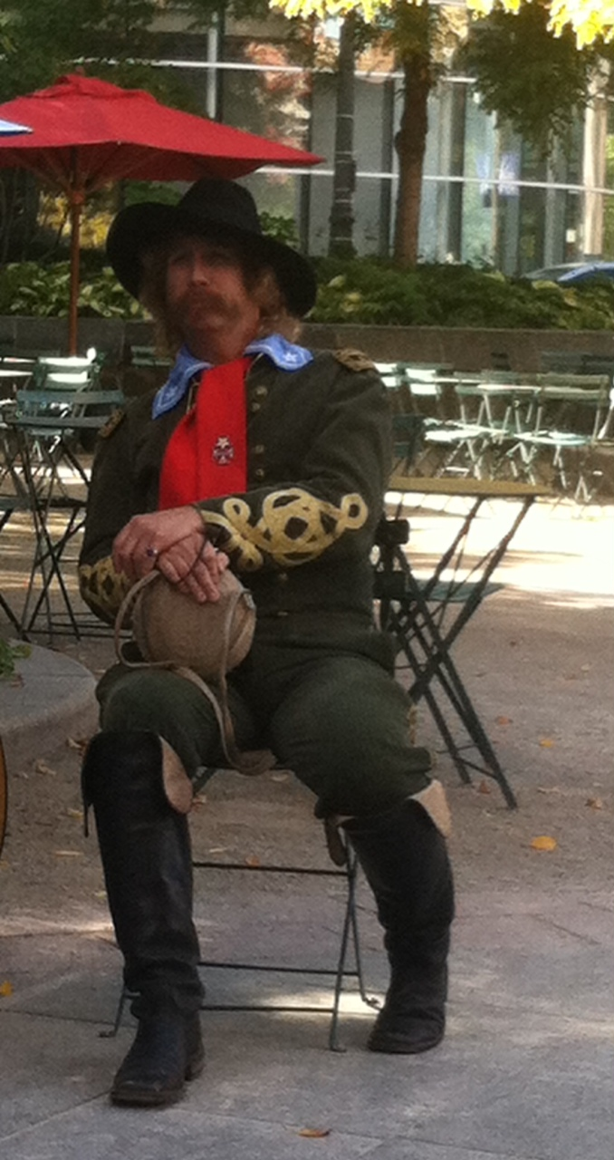 Steve Alexander as General George Armstrong Custer on a recent Civil War tour.