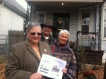 Wyandotte Community Alliance members in line behind me bearing cookies for Nicole & info on a recent home they rehabbed.