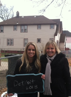 Rehab Addict Nicole Curtis & me, Karin Risko, owner of Hometown History Tours