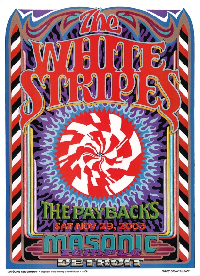 Gary Grimshaw White Stripes poster
